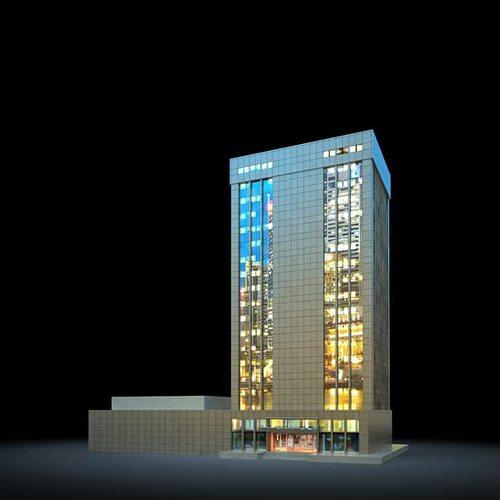 night skyscraper 3d model obj mtl 1