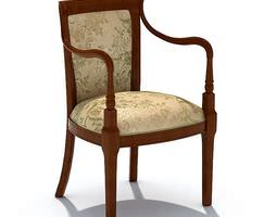 3D model Classic Wooden Chair