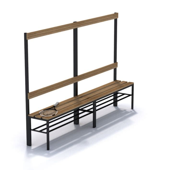Stupendous Wooden Sports Bench 3D Model Machost Co Dining Chair Design Ideas Machostcouk