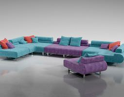 3d multicolored adjustable sectional