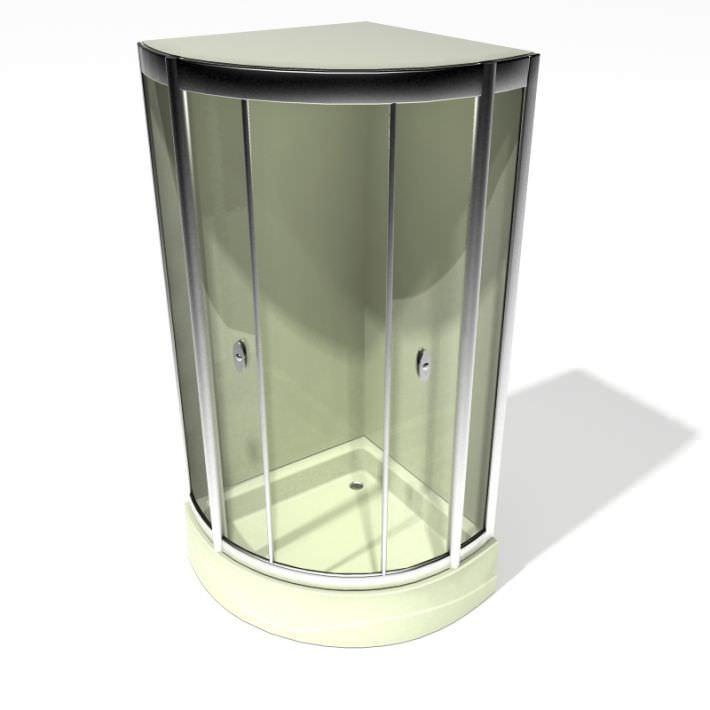 Standup Corner Shower 3D model
