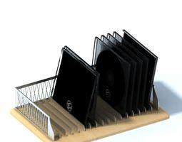 3d metal disk holder and organizer