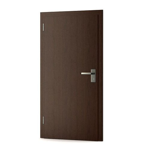 Double Hinged Brown Office Door 3D model  sc 1 st  CGTrader & 3D Double Hinged Brown Office Door | CGTrader