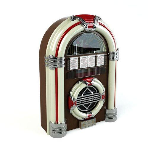 retro classic jukebox 3d model obj 1