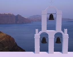 Santorini belltower 3D model