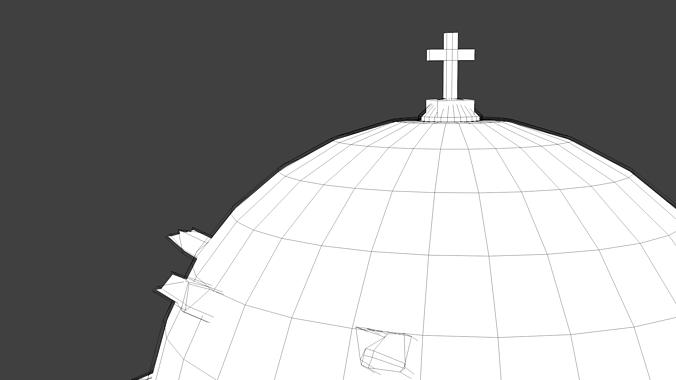 blue dome church in santorini 3d model obj 3ds fbx dxf stl blend 10