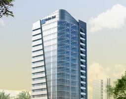 3D Models Skyscraper Bank Building