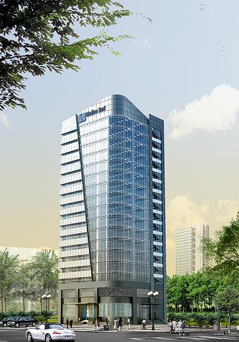 3d models skyscraper bank building cgtrader for Modern bank building design