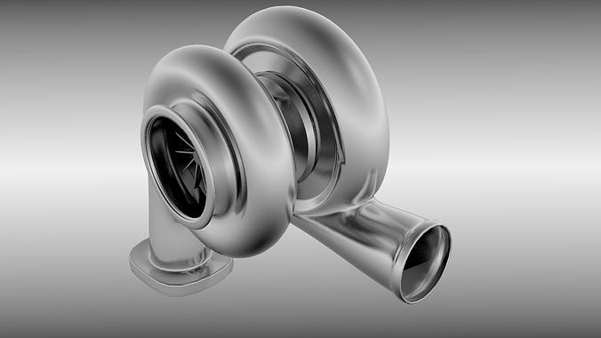 animated turbo 3d model rigged animated obj mtl fbx blend 1