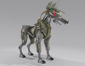 3D asset DOG 51 Military Robot