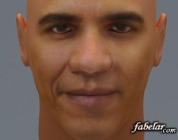 human Barak Obama 3D model