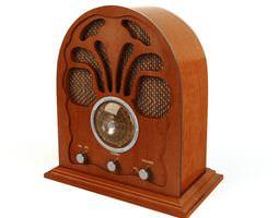 3D model Retro Wooden Radio