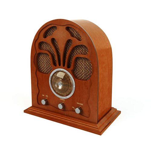 retro wooden radio 3d model obj 1