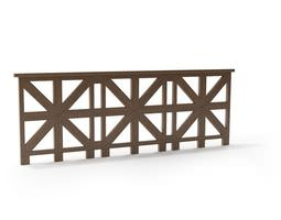 3D model Brown Intricate Railing