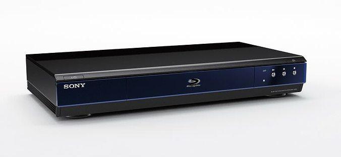 modern sony blu ray player 3d model obj mtl 1