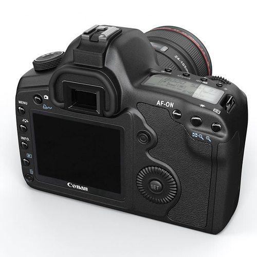 black photo camera 3d model obj 1