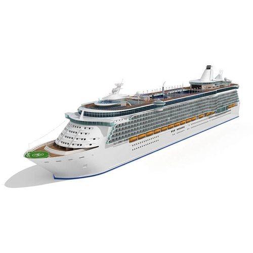 white cruise yacht 3d model c4d 1