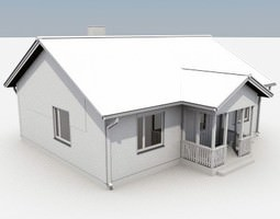 One Story House 03 SAMPLE 3D Model
