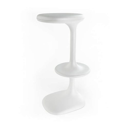 White plastic bar stool 3d cgtrader - Witte plastic stoel ...