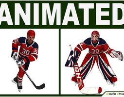 Hockey Player and Hockey Goalkeeper  CG 3D Model