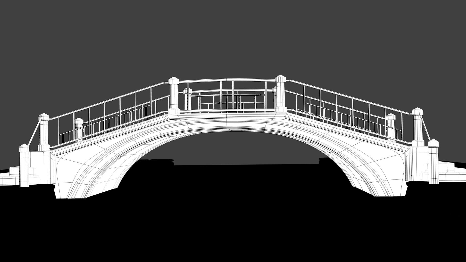 Venice Bridge 3d Model Obj 3ds Fbx Dxf Stl Blend