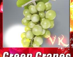 3D model Green Grapes High Detail