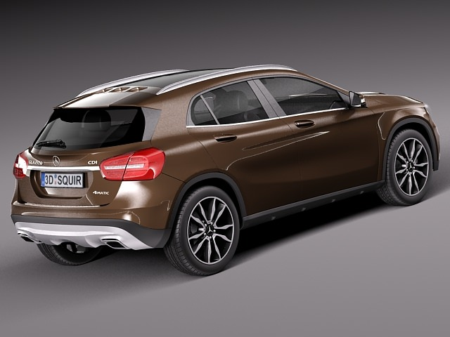 Mercedes benz gla 2014 3d model max obj 3ds fbx c4d lwo lw for 2014 mercedes benz models
