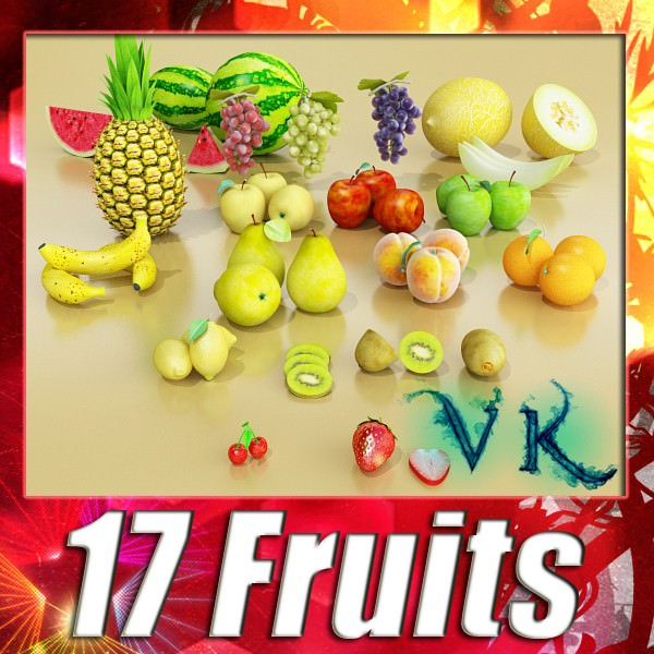 17 Fruits Collection High Res Textures