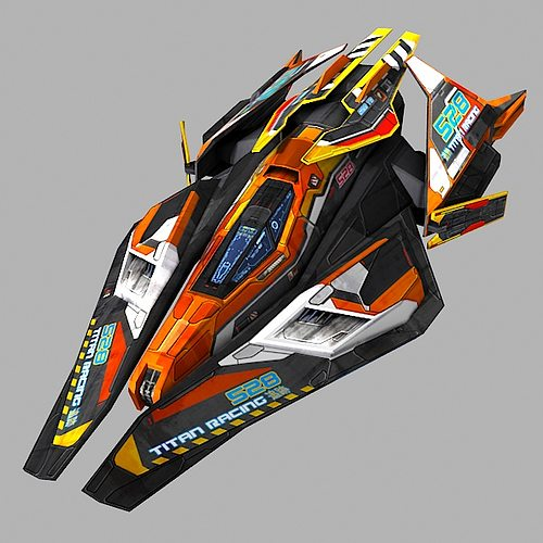 scifi racing-ship 02 3d model low-poly fbx 1