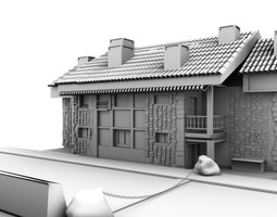 architectural house 3D