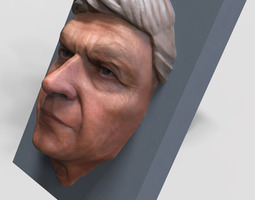 3d print model human face
