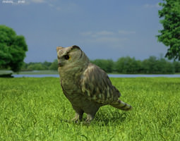 3d model eurasian eagle-owl bubo bubo game-ready
