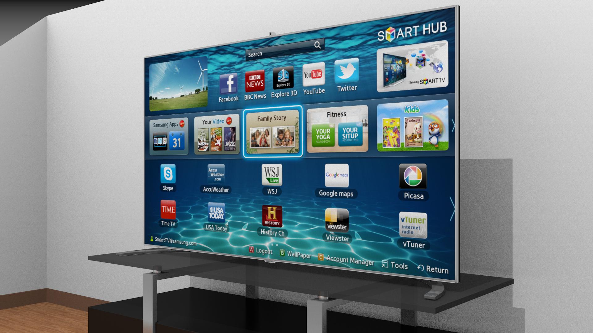 Samsung Smart Tv 39876 3d Model