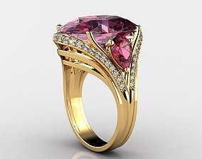 Exquisite Gemstone Rings 3D print model