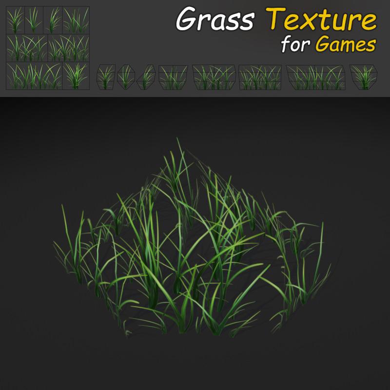 Grass Texture Game For Blue Grass Texture 3d Model Lowpoly Max Obj Mtl Fbx Tga 3d Blue Grass Texture Cgtrader