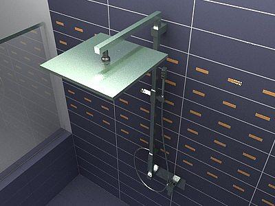 3d model ponsi italia bathroom shower cgtrader for New bathroom models