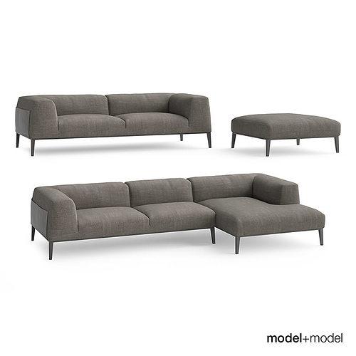 Poliform Metropolitan Sofas Model Max Obj Mtl Fbx 1