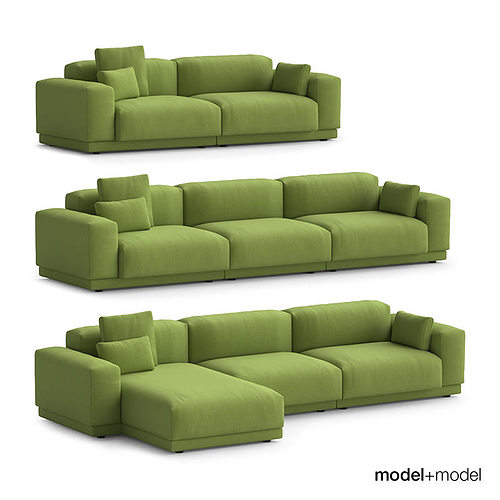 3d vitra place sofas cgtrader. Black Bedroom Furniture Sets. Home Design Ideas