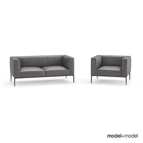 walter knoll jaan sofas 3d model cgtrader. Black Bedroom Furniture Sets. Home Design Ideas