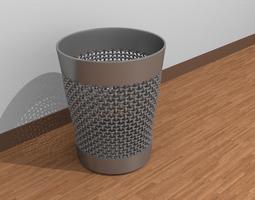 3D model Trash bin creased