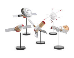 3d model papafoxtrot space fleet figures