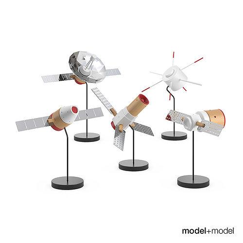 papafoxtrot space fleet figures 3d model max obj mtl fbx mat 1