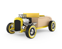 automoblox hot rod hr2 wood toy 3d