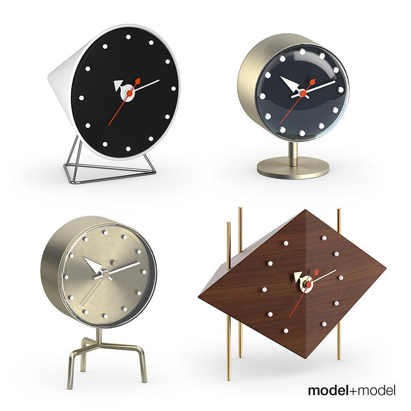 Vitra Nelson Desk Clocks 3d Model Max Obj Fbx Mat 1