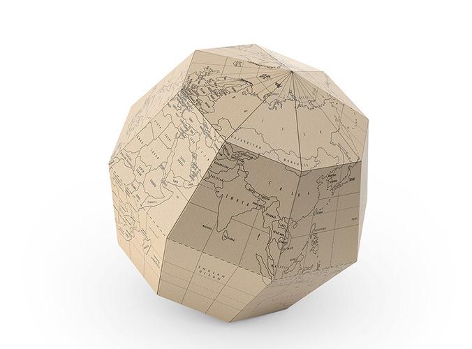 geografia paper globe 3d model max obj fbx 2