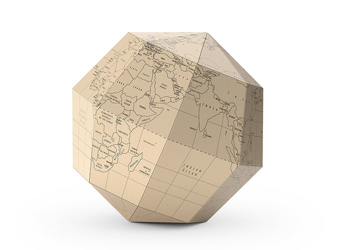 geografia paper globe 3d model max obj fbx 1