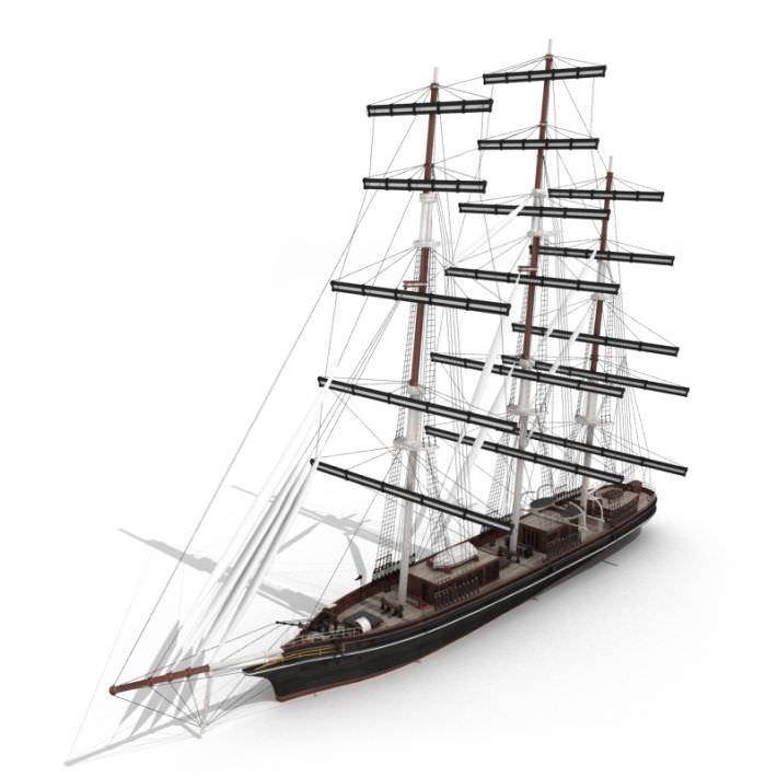 Wood Antique Sailing Boat