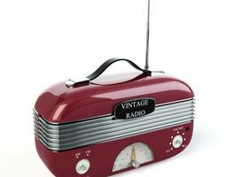 3d model vintage radio