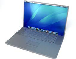 electronic laptop computer 3d