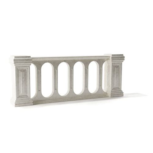 stone railing design 3d model obj mtl 1